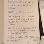 From our guest book
